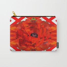 ORANGE-RED POPPY PATTERNS ART Carry-All Pouch