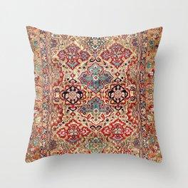 Esfahan Central Persian Rug Print Throw Pillow