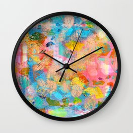 Abstract Pattern in Blush Pink Wall Clock