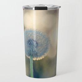 Dandelion blossom defocused seed head Travel Mug