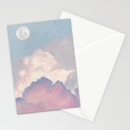 The sky where the moon is seen Stationery Cards