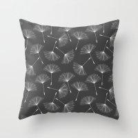 dandelion Throw Pillows featuring Dandelion by Rceeh