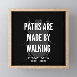 16  |  Franz Kafka Quotes | 190517 Framed Mini Art Print