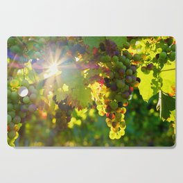 Wine Grapes in the Sun Cutting Board