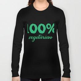 100% vegetarian Long Sleeve T-shirt