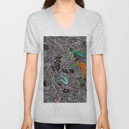 Kamasutra LOVE Doodle - Retro Colors 1 Unisex V-Neck