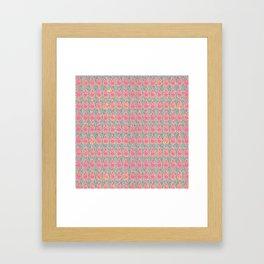 BOHO CHIC PINK GOLD Framed Art Print