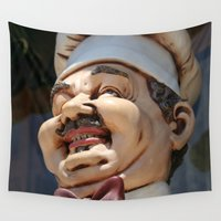 chef Wall Tapestries featuring CHEF by Andrea Jean Clausen - andreajeanco