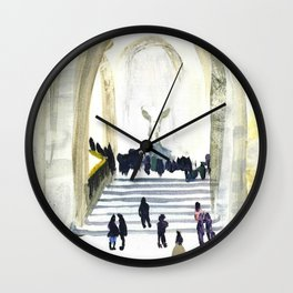 Musee du Louvre - Winged Victory Wall Clock