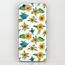 Sunflowers pattern iPhone Skin