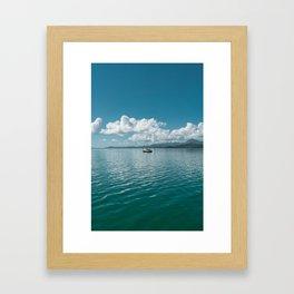 Hawaiian Boat Framed Art Print