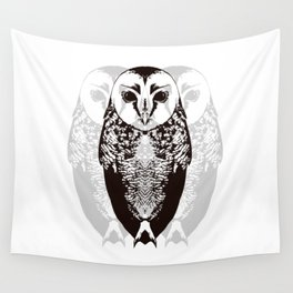 Owl By Myself Wall Tapestry
