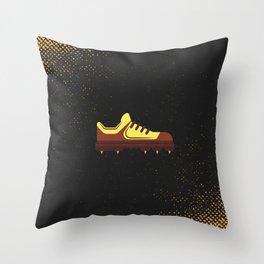 Minimal Retro Cricket Shoe Throw Pillow