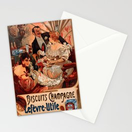 Vintage poster - Biscuits Champagne Stationery Cards
