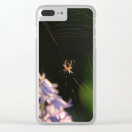 Spider Web Clear iPhone Case