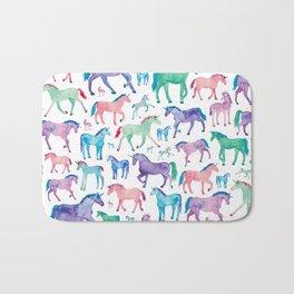 Pastel Unicorn Pattern Bath Mat