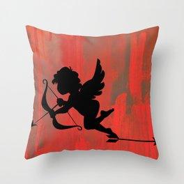 Cupid With Arrow Throw Pillow