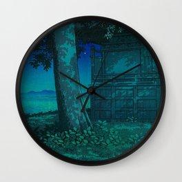 Kawase Hasui Lake Hachirogata, Akita 1927 Japanese Woodblock Print Wall Clock