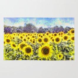 Sunflower Fields Of Summer Dreams Rug