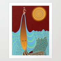The Young Man And The Sea Art Print