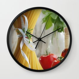 #Delicious #Italian #noodles in the #kitchen #still life Wall Clock