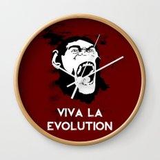 VIVA LA EVOLUTION Wall Clock