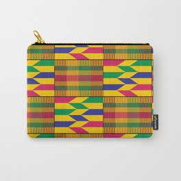 West African Kente Pattern Carry-All Pouch