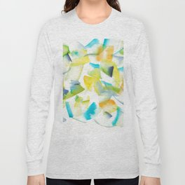 180719 Koh-I-Noor Watercolour Abstract 30| Watercolor Brush Strokes Long Sleeve T-shirt