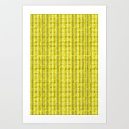 Bone Repeat Pattern Art Print