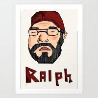 wreck it ralph Art Prints featuring RALPH by Shanestrikesback