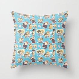 Chibilock Pattern Throw Pillow