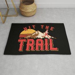 Vintage Gym Hit The Trail Running Marathon Gift Rug