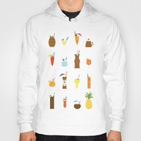 tiki Hoodies featuring Tiki Drinks by Sara Showalter