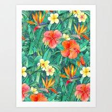 Classic Tropical Garden Art Print