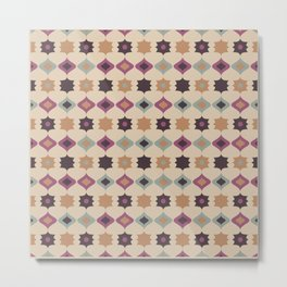 Retro pattern . Pastel . Metal Print