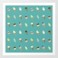 dessert Art Prints featuring Dessert by Olya Yang