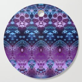 Hippy Blue and Lavender Cutting Board