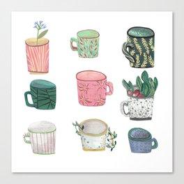 Pattern Cups - Asma Original Canvas Print