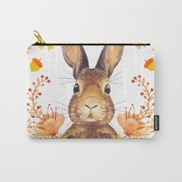 Autumn Rabbit Carry-All Pouch