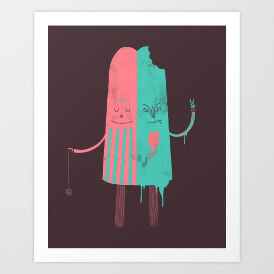 Non-Identical Twins Art Print
