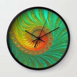 Ripple Effect - Fractal Art  Wall Clock