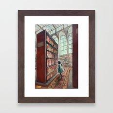 Exploring the Library Framed Art Print