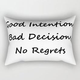 Good Intentions Rectangular Pillow