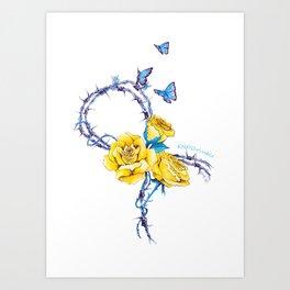 Ribbon | Endometriosis awareness Art Print
