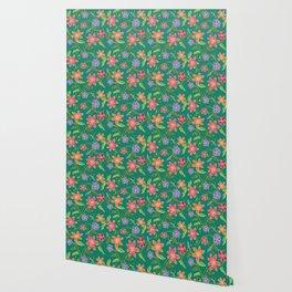 Emerald Batik Wallpaper