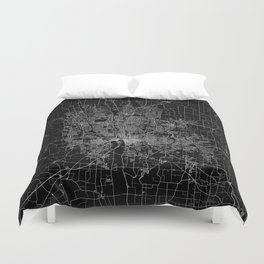 Columbus map ohio Duvet Cover