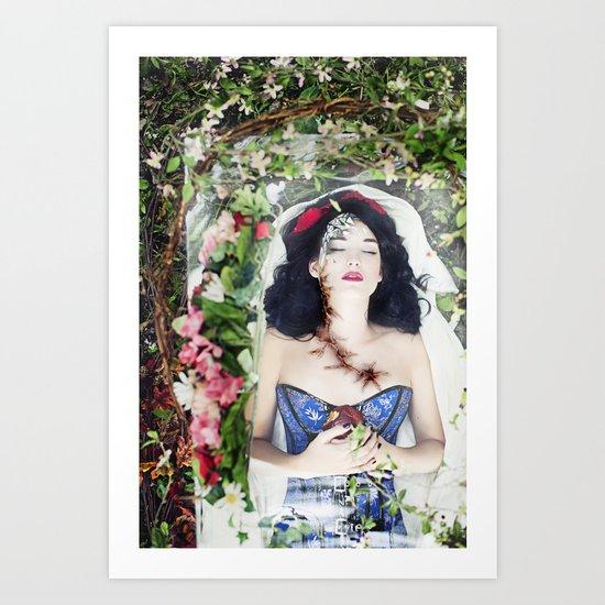 Snow White: Eternal Sleep Art Print