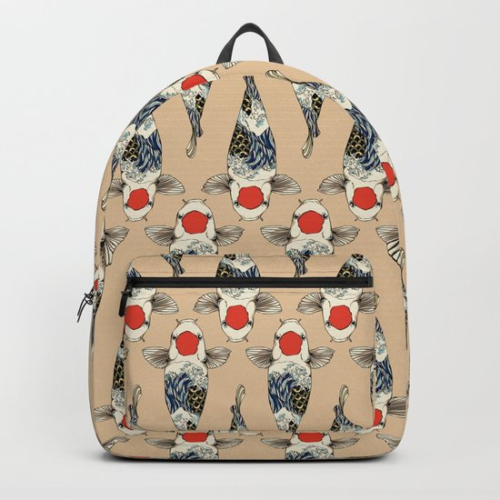 The Great Wave Of Koi Backpack