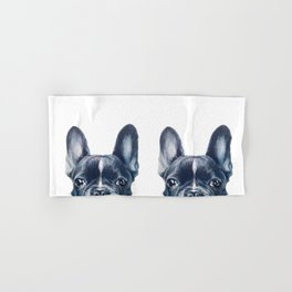 French Bull dog Dog illustration original painting print Hand & Bath Towel