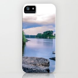 Long Exposure Photo of The River Tay in Perth Scotland iPhone Case